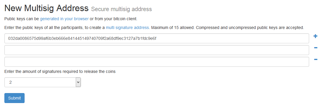 How to Create and Use a Multi-Sig Bitcoin Address